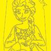 Zandkleurplaat Elsa 1
