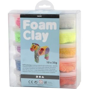 Foam Clay®, diverse kleuren, basis, 10x35gr