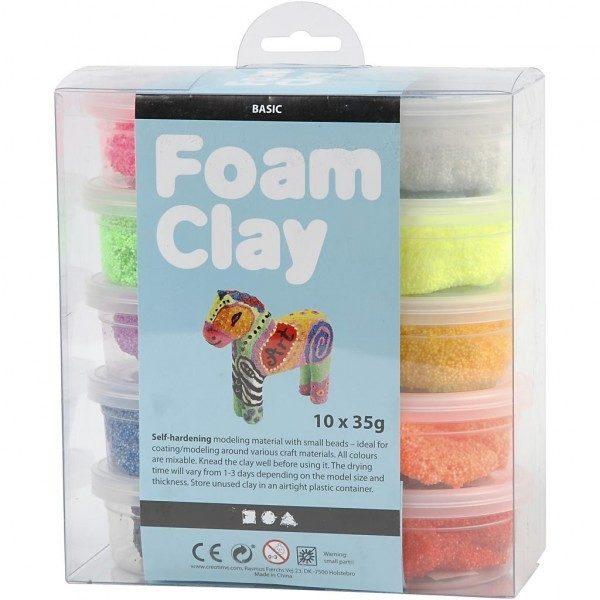 Foam Clay®, diverse kleuren, basis, 10x35gr